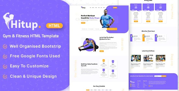Best Fitness and Gym HTML Template