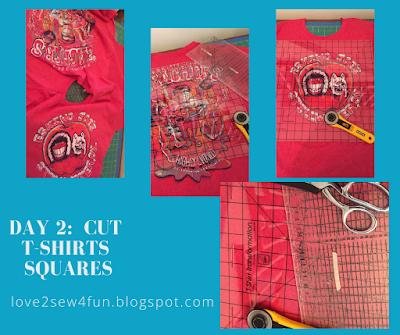 Day 2: Cut T-Shirt Squares