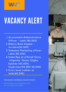 VACANCY ALERT FOR DIFFERENT POSITIONS