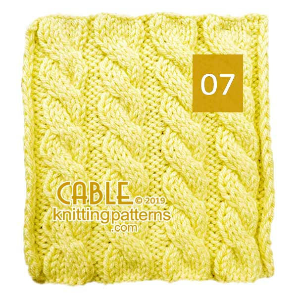 Cable Knitting Pattern 07