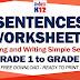 SENTENCES WORKSHEETS for Grade 1 to Grade 6 (Free Download)