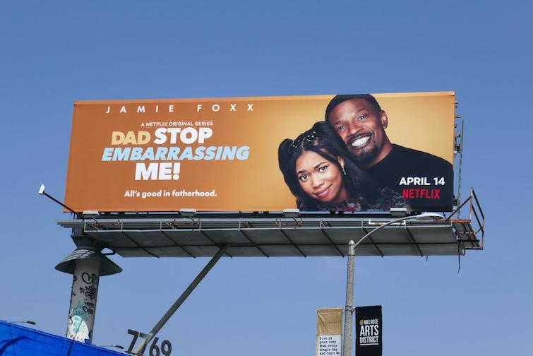 Dad Stop Embarrassing Me billboard