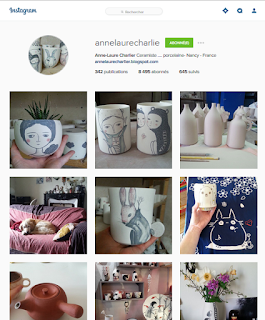 Compte Instagram d'Anne-Laure Charlier