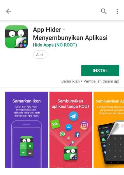 Aplikasi App Hider
