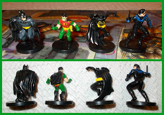 40mm Figures; Bat People; Batgirl; Batman; Board Game; Board Game Playing Pieces; Boardgame Pieces; Cotham City Mystery; DC Batman; DC Characters; DC Comics; Man Bat; Mattel; Misterio En Ciudad Gotica; Nightwing; Robin; Robin The Boy Wonder;