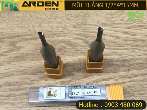 Mũi Router Arden 1/2x4x15mm TCT