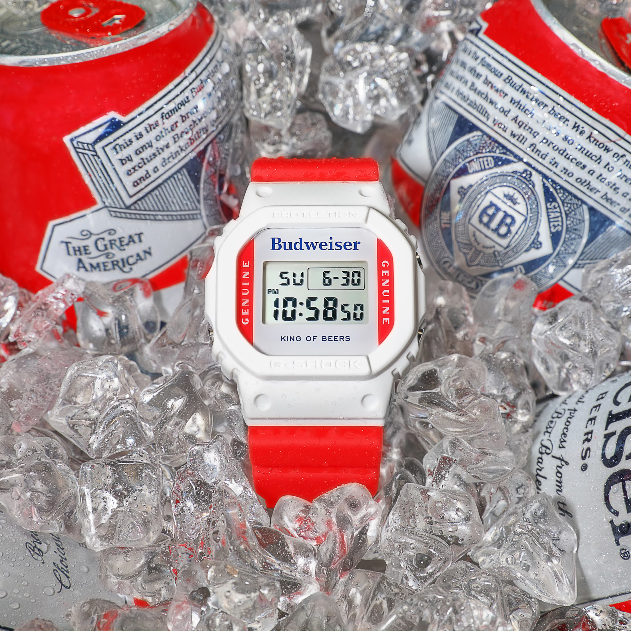 G-SHOCK Collaborates with an American Icon, Budweiser on Limited-edition Timepiece