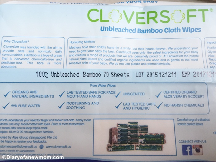 Features of CloverSoft Unbleached Bamboo Cloth Wipes