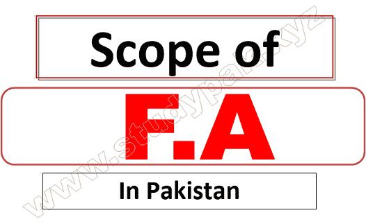 Scope of FA in Pakistan
