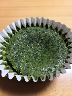 A cup of Matcha cake