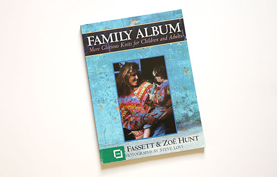 Family Album knitting book by Kaffe Fassett and Zoe Hunt on a white background.