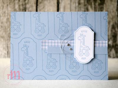 Stamp Impressions Blog Hop: Simple Stamping with new In Colors: Babykarten mit Alles auf Anhang und Stanze Zeitloses Etikett