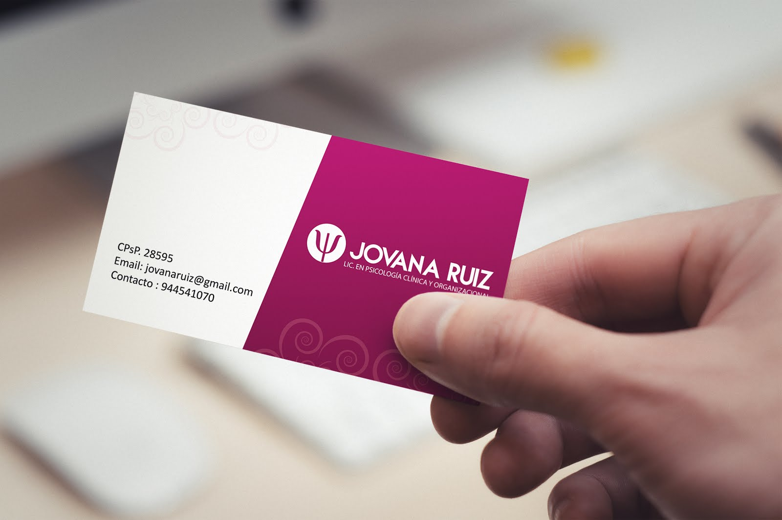 Tarjetas Personales: Jovana Ruiz