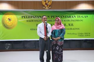 Pelepasan dan Pengantar Tugas Hakim Tinggi Pengadilan Tinggi Agama Palembang Drs. H. Abdullah, S.H., M.H sebagai Wakil Ketua Pengadilan Tinggi Agama Kupang
