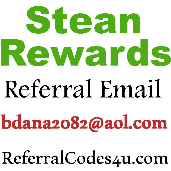 Stean Rewards Referral Email 2016-2017, Stean Rewards Sign Up Bonus