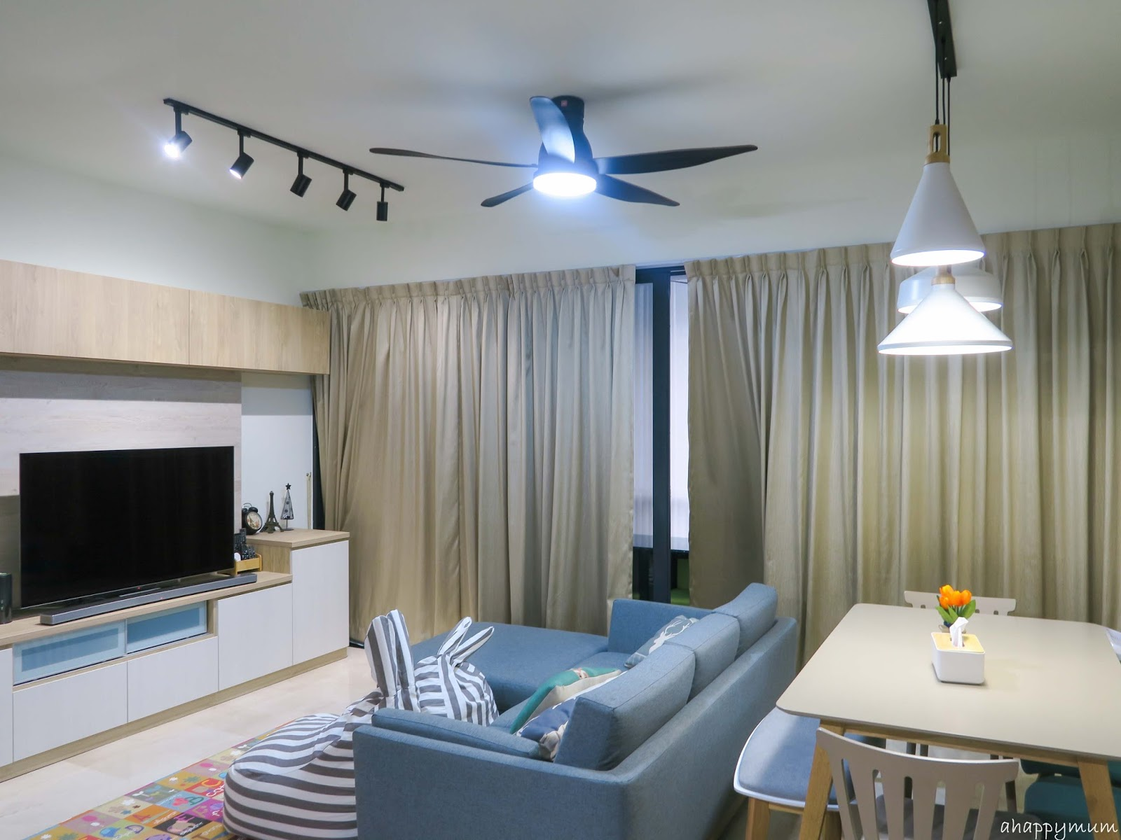 A happy mum singapore parenting blog for both the living room and master bedroom we installed the u60fw a remote controlled ceiling fan that has a dc motor and measures 60 inches 150cm in publicscrutiny