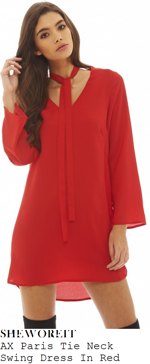 rosie-fortescue-red-v-neck-long-sleeve-tie-detail-swing-mini-dress