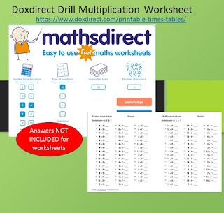 The Math Worksheet Drills Multiplication site