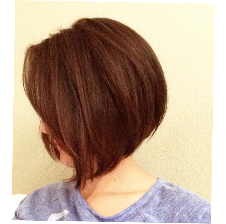 Long A-Line Bob With Side Bangs Photo
