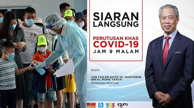Perintah Kawalan Pergerakan Diumumkan Oleh Kerajaan Malaysia Disebabkan Pandemik COVID-19