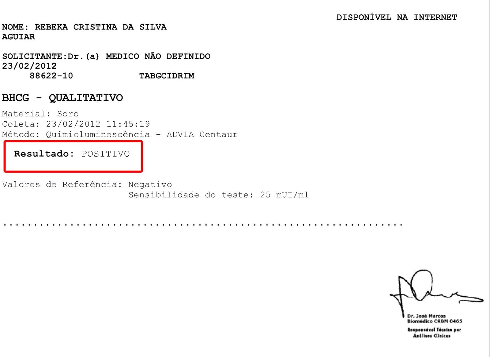 Resultado Exame Laboratorio Sao Marcos Dissertação Ajuda