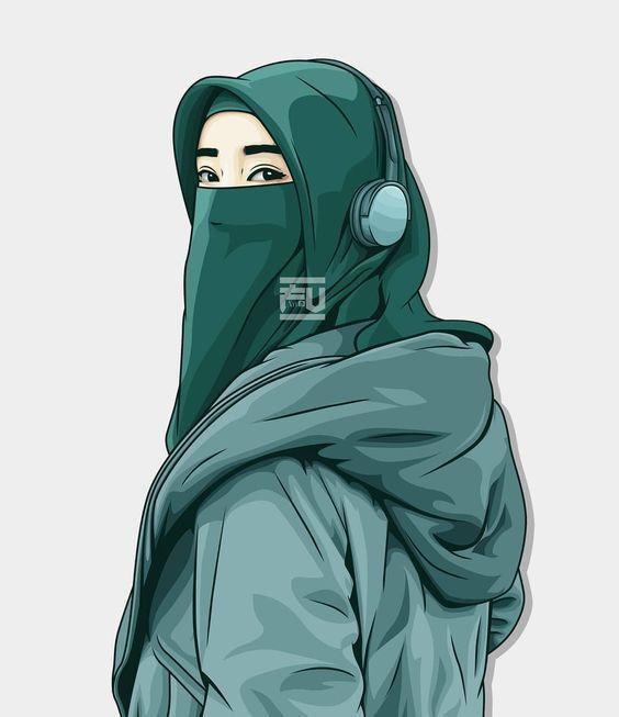100 Gambar Kartun Muslimah Keren Cantik Sedih Dewasa Dyp Im