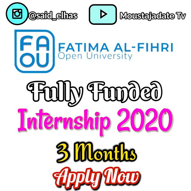 تدريب ممول بالكامل مقدم من جامعة فاطمة الفهري المفتوحة 2020 | ممول بالكامل