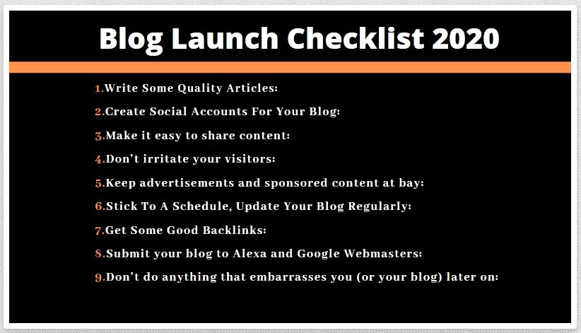 Blog-Launch-Checklist