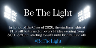Stadium lights to honor the Class of 2020