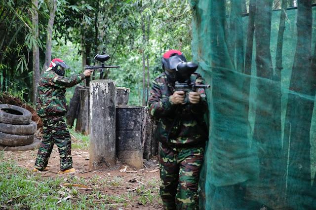 Bắn súng sơn tại khu du lịch Madagui