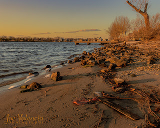 Golden Hour at Twilight Lake in Bay Head, New Jersey
