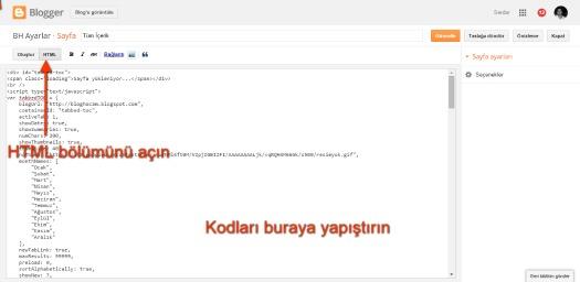 blogger arşiv sayfası