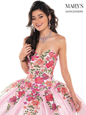 Pink/Multi Color Ball Gown Dress Front Design