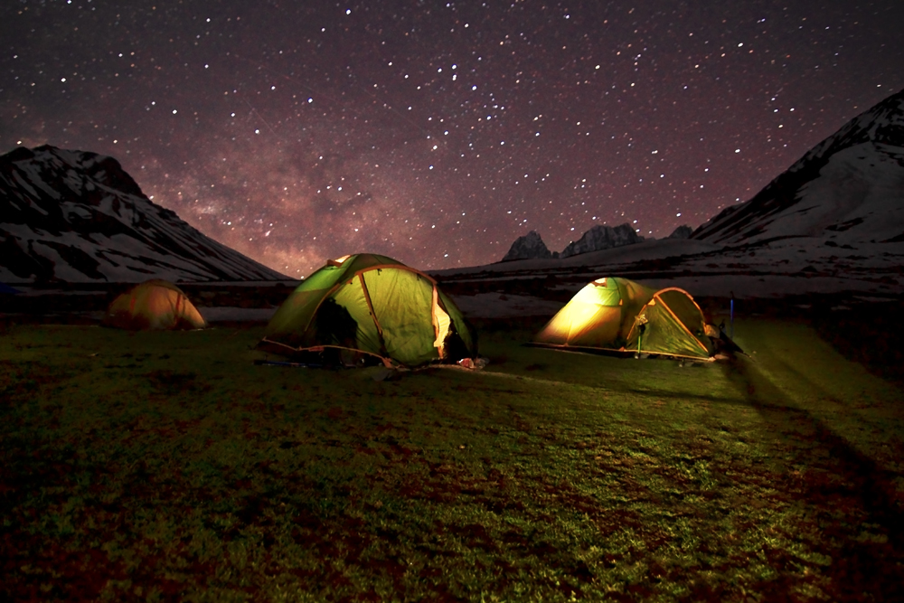 Star-studded sky in the high altitudes of Kashmir