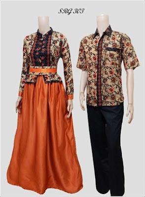 Contoh Model Gamis Batik