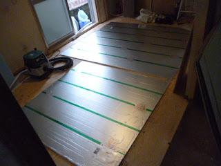 都市ガス:改修工事 床暖房設置