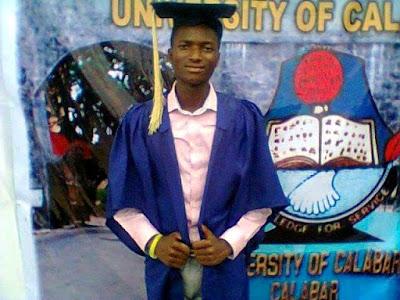 Ayodele Ebenezer emerges best graduating student as unical graduates 3,200