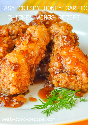 EASY CRISPY HONEY GARLIC CHICKEN WINGS RECIPE