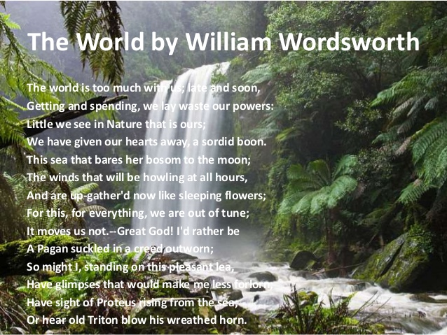 William wordsworths portrayal of nature essay