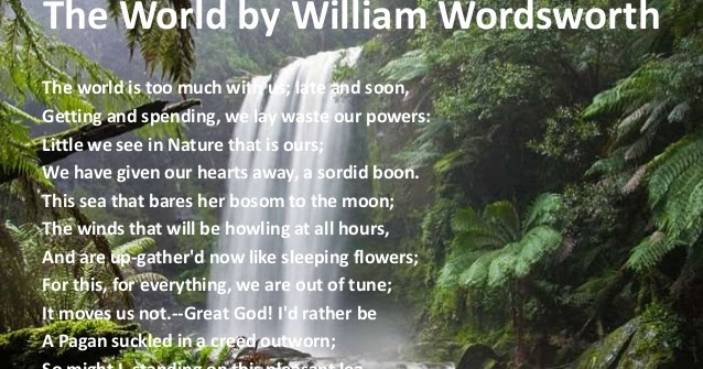 comparative analysis of william wordsworth s poems Annotation prompts for william wordsworth's 'composed upon  william-wordsworth---'composed-upon-westminster-bridge  poems of the decade comparative task 'the.