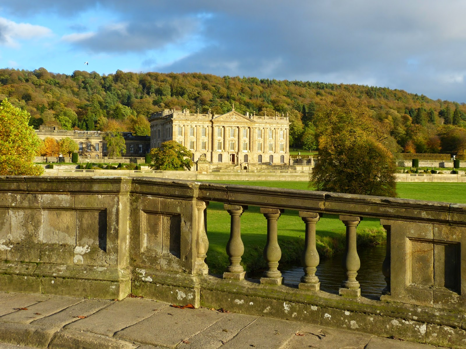Chatsworth from the stone bridge