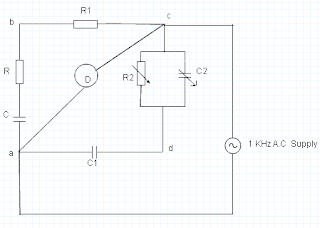 Schering's Bridge Circuit Diagram