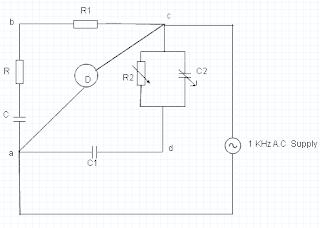 Schering's Bridge Circuit Diagram