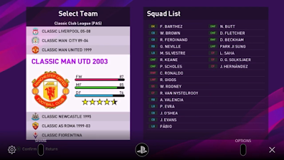 PES 2020 PS4 Option File Classic Club League 1 by Aldoceltic