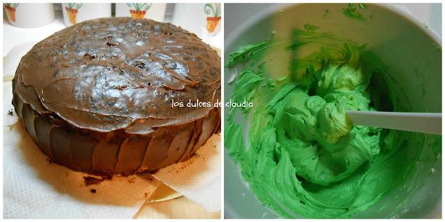 torta con flores verdes