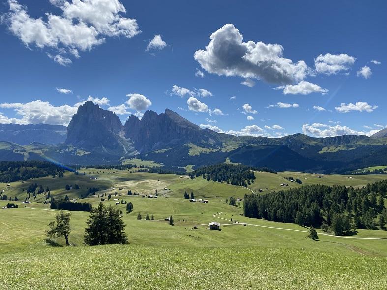 La vista sull'Alpe di Siusi