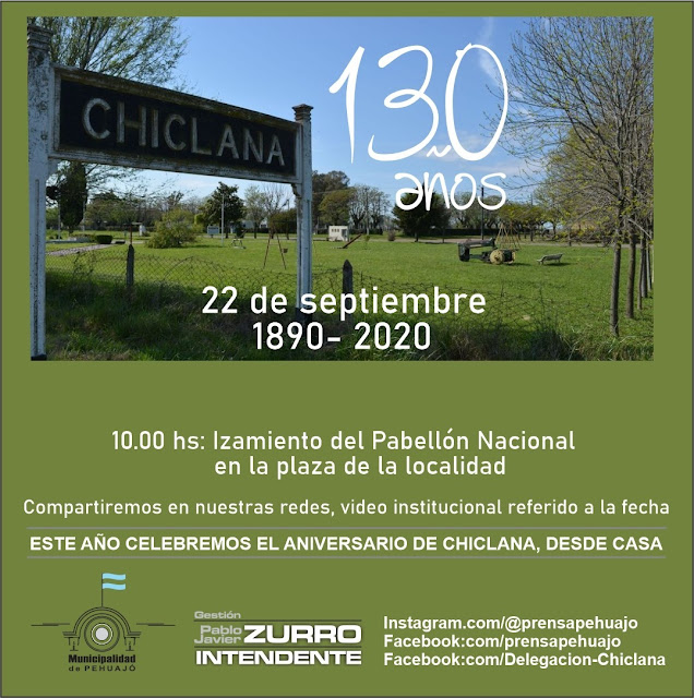 El próximo martes Chiclana cumple 130 años de vida