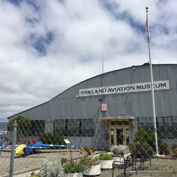 exterior of Oakland Aviation Museum in Oakland, California