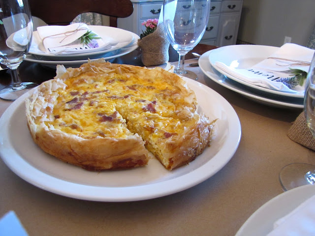 bacon and cheddar quiche recipe