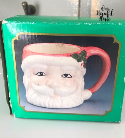 vintage Santa mug box collectible